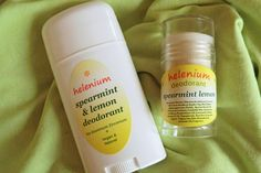 All Natural Vegan Spearmint Lemon Deodorant by HeleniumBathBodyHome on Etsy #naturaldeodorant#bathandbody