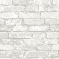 Nu Peel & Stick Wallpaper Grey and White Brick