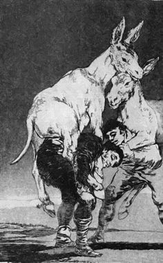 Francisco Goya, Caprichos, No. 42 - Tu que no puedes, aquatint and etching, 1798 Francisco Goya, Religious Paintings, Spanish Artists, Art Database, Illustrations, Art Google, Vintage Posters, Vintage Art, Art Images