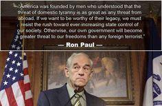 Ron Paul says....