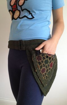 GREEN - PIXIE belt fairy belt Elf belt Pocket BELT Waist belt Hip pouch psy trance belt fanny pack $40.62
