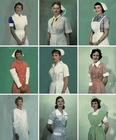 International Nurse Uniforms, ca.1950