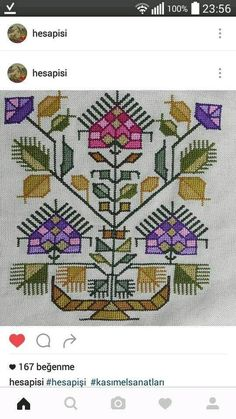 This Pin was discovered by Süh Cross Stitch Boards, Cross Stitch Art, Cross Stitch Flowers, Cross Stitch Designs, Cross Stitch Patterns, Hand Work Embroidery, Wool Embroidery, Cross Stitch Embroidery, Embroidery Patterns