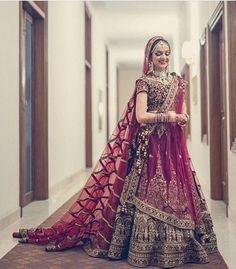 Looking for Bridal Lehenga for your wedding ? Dulhaniyaa curated the list of Best Bridal Wear Store with variety of Bridal Lehenga with their prices Wedding Lehenga Designs, Designer Bridal Lehenga, Indian Bridal Lehenga, Indian Bridal Outfits, Indian Bridal Fashion, Indian Bridal Wear, Indian Designer Outfits, Indian Dresses, Bridal Dresses