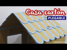 How to make cardboard house for kids FOLDING Cardboard Houses For Kids, Cardboard Dollhouse, Cardboard Toys, Diy Home Crafts, Crafts To Make, Sewing Crafts, Crafts For Kids, Old Book Crafts, Paper Crafts