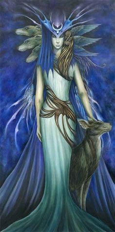 By Marc Potts. Hekate is a goddess of the crossroads, the queen of witches, the ruler of the heavens and the underworld. She is the embodiment of darkness; the moon in it's true color. She is the maiden, the mother, and the crone; the keeper of all vast knowledge and mysteries, wisdom, strength, and truth. She is a liberated woman, free from all male-created bonds. She is mind, body, spirit; birth, life, and death.