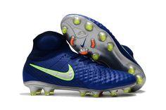 brand new bde4f c30a5 Nike Magista Obra II FG Soccer Shoes Green Blue on www.evensoccer.com