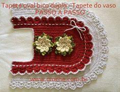 Tapete oval bico duplo passo a passo - Tapete do vaso - http://www.croche.com.br/jogo-de-banheiro-oval-bico-duplo-tapete-do-vaso-1/