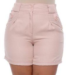 Shorts Plus Size Silvia at Diyanu Bermudas Fashion, Fashion Pants, Fashion Outfits, Plus Size Dresses Australia, Smart Shorts, Cute Dresses For Party, Casual Shorts, Casual Outfits, Pants Pattern