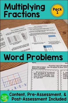 You'll love this fraction math resource for upper elementary! The pre-assessment, practice worksheets, post-assessment, and content notes will make your lessons and your lessons and your life easier! The real world word problems ask your 4th and 5th grade students to model their thinking. These activities will turn your math classes around!