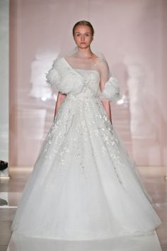 Reem Acra  Lovely Winter Bride
