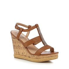 8cfdd073936ab3 Call It Spring Tan  Terreti  high wedge heel ankle strap sandals