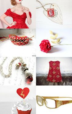 Roses And Hearts by Marukasa on Etsy