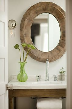 bathroom, elegant with rustic touches