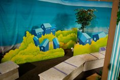 Could use the 3D concept on cardboard or foam core for a VBS scene.