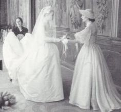 Grace with one of her bridesmaids