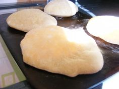 Bread machine pita-made these last night and just had one for lunch...YUMMMMM, and so easy...well pretty easy!