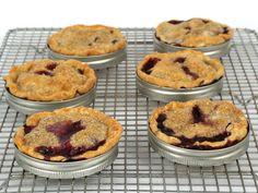 Blueberry-Peach Mason Jar Lid Pies recipe from Food Network Kitchen via Food Network