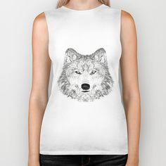wolf Biker Tank
