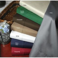 Shop for Superior Egyptian Cotton 400 Thread Count Deep Pocket Sateen Bed Sheet Set. Get free delivery On EVERYTHING* Overstock - Your Online Bedding Basics Store! Black Duvet Cover, White Duvet Covers, Duvet Cover Sets, Fitted Bed Sheets, Flat Sheets, Luxury Bed Sheets, Blue Duvet, Bedding Basics, Bed Sheet Sets