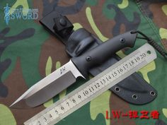 2014 NEW! L.W DEFENDER Tactical Combat Fixed Blade Knife Outdoor Camping Hunting Survival Hand Tool Knives A2 Steel G10 Handle  $85.60