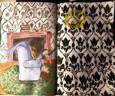 Agujerea esta página con un lápiz. Bored Sherlock #wreckthisjournal