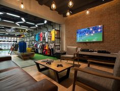 Sports Store | Retail Design | Shop Interior | Sports Display | Ari Football flagship store by Whitespace, Bangkok