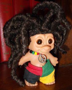 Hippie Dude Troll Doll with Dreadlocks