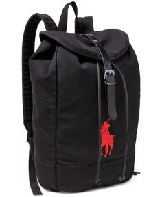 e1c3331ddec Polo Ralph Lauren Men s Big Pony Canvas Backpack Men - All Accessories -  Macy s