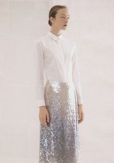 jil sander - silver sequins