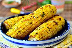 Épis de maïs grillé a la marinade