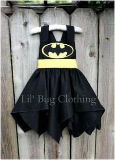 Custom Boutique Clothing Super Hero Bat Girl Black And Yellow  BIrthday Costume by LilBugsClothing on Etsy