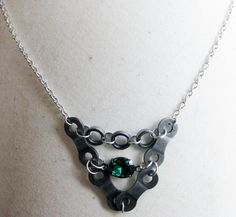 Upcycled Bicycle Chain Statement Necklace with by WarbleswithBella, $30.00