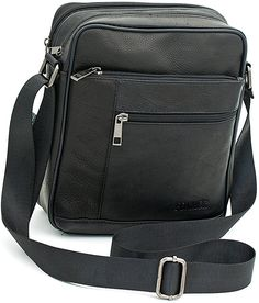 Small Genuine Leather Cross Body Messenger Bags Satchel Shoulder Bag for Men Black -- To view further for this item, visit the image link. Leather Purses, Leather Crossbody, Leather Handbags, Crossbody Bag, Leather Passport Wallet, Messenger Bag Men, Leather Bags Handmade, Cross Body, Shoulder Bag