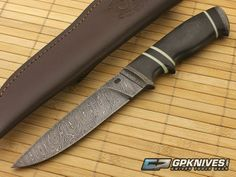 Olamic Cutlery Suna Damascus with G10/Moonglow
