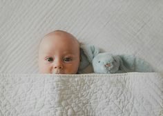 Newborn photography with teddy. Baby, VSCO and Jellycat rabbit