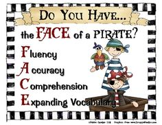 {$1} Do you have the FACE of a Pirate?Fluency, Accuracy, Comprehension, Expanding VocabularyUse these posters to create an adorable pirate themed ...