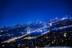 Istanbul Bosphorus from Camlica Hill