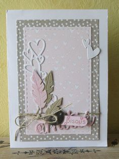 Love is in the air - le scrap de Karilou - Posters Mothers Day Cards, Valentine Day Cards, Pretty Cards, Love Cards, Watercolor Card, Feather Cards, Simple Birthday Cards, Heart Cards, Greeting Cards Handmade