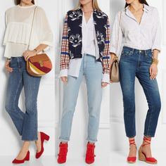 How to Wear Red Shoes with Jeans