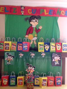 La Chilindrina wall decor for party Kids Birthday Themes, Birthday Desserts, Twin Birthday, 1st Birthday Parties, Sofia Party, Party Cakes, Party Time, Halloween, Wall Decor