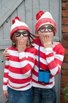 Where's Wally - love the home made glasses, hair and camera!