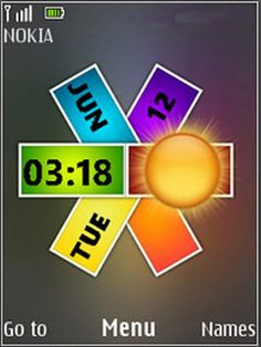 Download Free Nokia Colors Clock S40 Theme Mobile Downloads Hundreds Of