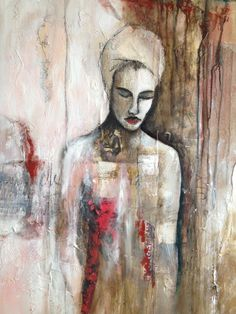 """""""la lectrice"""" technique mixte sur toile mix media on canvas by Fatiha Riry 2017 Mixed Media Canvas, Letters, Painting, Inspiration, Art, Canvas, Biblical Inspiration, Art Background, Painting Art"""