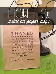 20 of the Best and Cheapest DIY Teacher Gifts They Will Love (and not throw away) Made these for Staff Appreciation. used them for candy bar treat bags. Teacher Appreciation Week, Employee Appreciation, Teacher Gifts, Student Gifts, Craft Gifts, Diy Gifts, Aaliyah, Print On Paper Bags, Paper Bag Printing