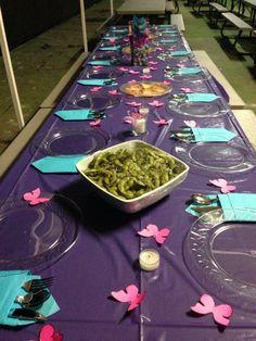 Decoración de mariposas salvajes cena de Navidad