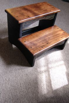 Handcrafted Heavy Duty 2 Step Stool Solid Wood Wooden Bedside Bedroom Kitchen Kids Bathroom Black & Handcrafted Heavy Duty Step Stool Wooden Adult Kitchen Bedside ... islam-shia.org