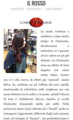 Benvenuto a Lorendo Belardi e ai suoi consigli per un hairstyle perfetto! @dome1988  #hairstyle #rosso #capelli #colore