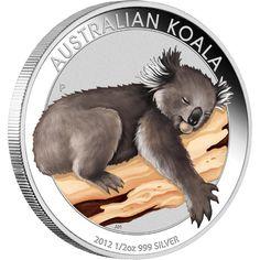 Australian Outback 2012 Coloured Silver Coin Collection at The Perth Mint, featuring: Original 2012 Kangaroo, Koala & Kookaburra D. Bullion Coins, Silver Bullion, Mint Coins, Silver Coins, Perth, The Bear Family, Australian Animals, World Coins, Rare Coins