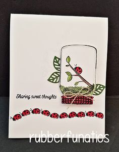 RubberFUNatics: Control Freaks Blog Hop - June 2017 - Sharing Sweet Thoughts - love this card!